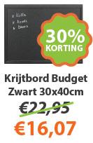 Krijtbord Budget Zwart 30x40cm