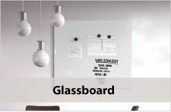Whiteboards van glas