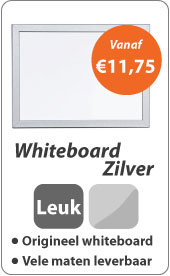 Whiteboard Zilver