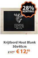 Krijtbord Hout Blank 30x40cm