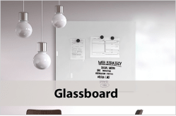Whiteboards van glas