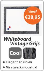 Whiteboard Vintage Grijs