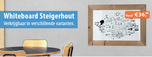 Whiteboard Steigerhout